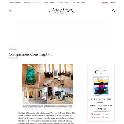 Rirkrit Tiravanija and Gordon Matta-Clark -- New York Magazine Art Review - Nymag
