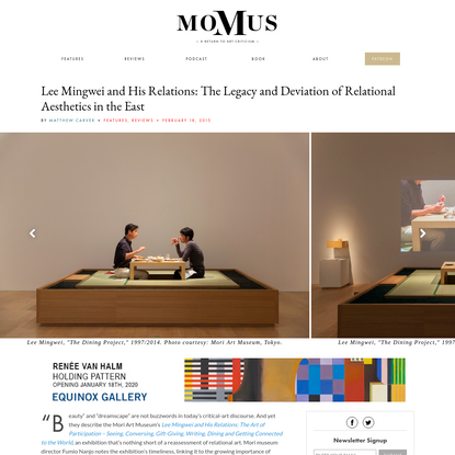Lee Mingwei and His Relations: The Legacy and Deviation of Relational Aesthetics in the East - Momus
