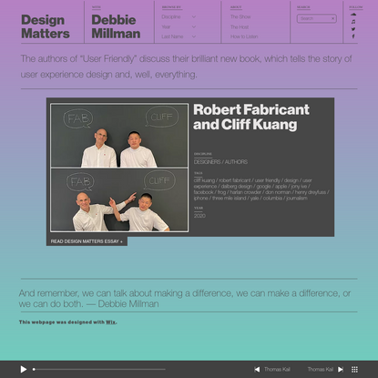 Robert Fabricant and Cliff Kuang