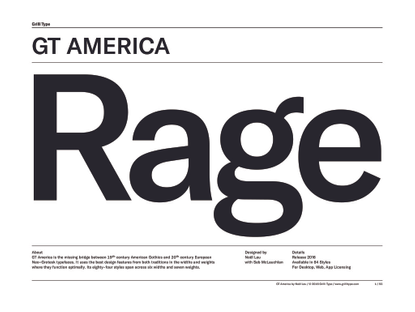 GT America Specimen (Downloadable PDF)