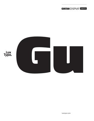 Gustan Display Suite (Downloadable PDF)