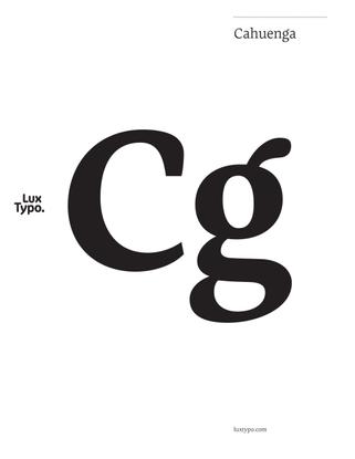 Cahuenga (Downloadable PDF)