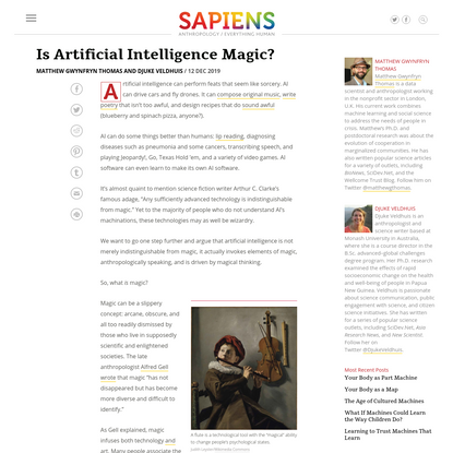 Is Artificial Intelligence Magic?