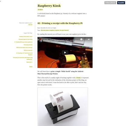 03 - Printing a receipt with the Raspberry Pi