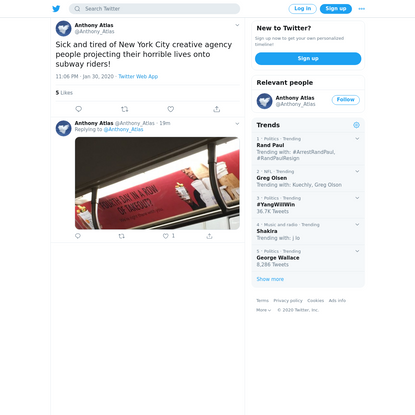 Anthony Atlas on Twitter