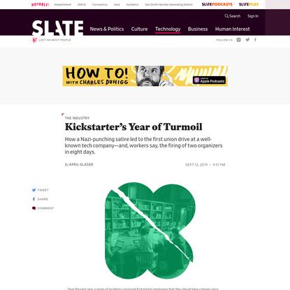 Kickstarter's Tumultuous Journey to Where No Tech Company Has Gone Before: Unionization