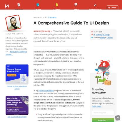 A Comprehensive Guide To UI Design - Smashing Magazine