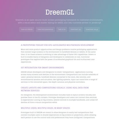 DreemGL by dreemproject