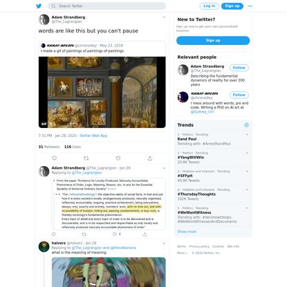 Adam Strandberg on Twitter