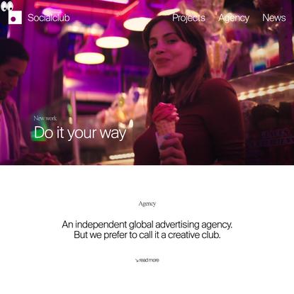 Socialclub. Advertising + Design in Paris