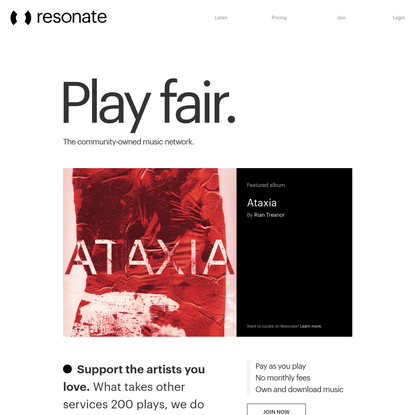 Resonate – the ethical music streaming co-op