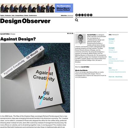Against Design? : Design Observer