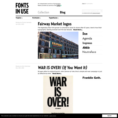 Blog - Fonts In Use