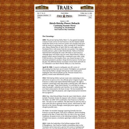 Hetch Hetchy Power Debacle - Trails Section - Clovis Free Press