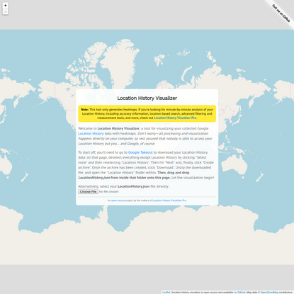 Location History Visualizer | Heatmap