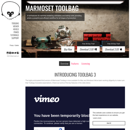 Marmoset Toolbag 3 | 3D Real-time Rendering, Lookdev, and Production Tools