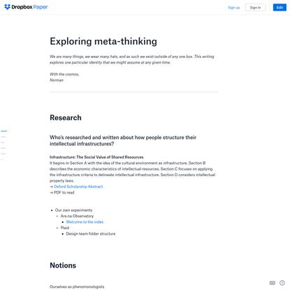Exploring meta-thinking