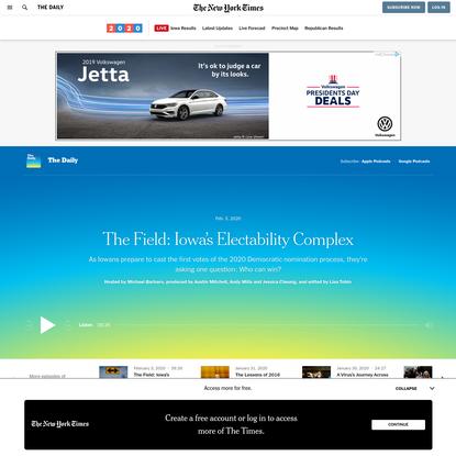 The Field: Iowa's Electability Complex