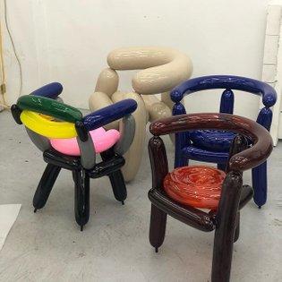 blowing series #seungjinyang #furniture #epoxyresin #balloons