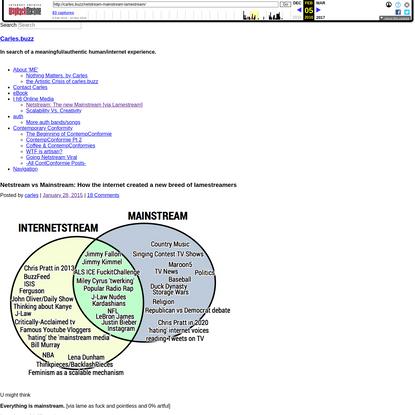 Netstream vs Mainstream: How the internet created a new breed of lamestreamers