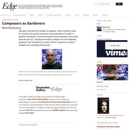Composers as Gardeners