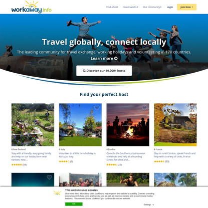 Workaway in over 180 countries - give meaning to your travels
