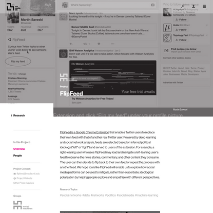 Project Overview ‹ FlipFeed - MIT Media Lab