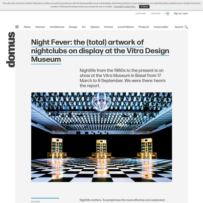 Night Fever: the (total) artwork of nightclubs on display at the Vitra Design Museum