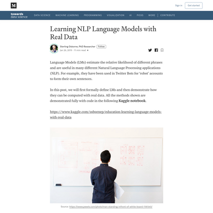 Learning NLP Language Models with Real Data