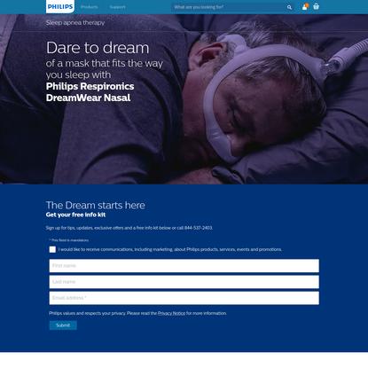Philips Respironics DreamWear Nasal Sleep Apnea Mask | Philips