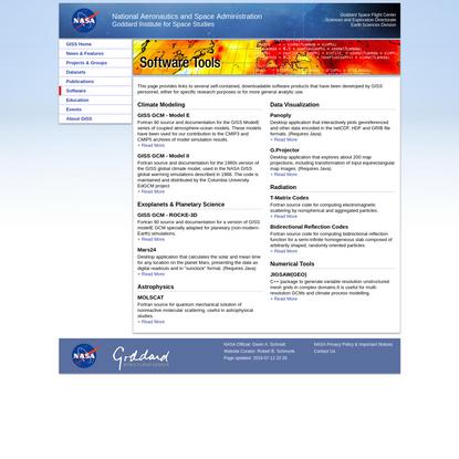 NASA GISS: Software Tools