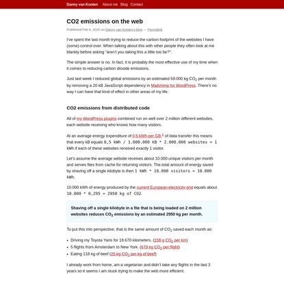 CO2 emissions on the web   Danny van Kooten