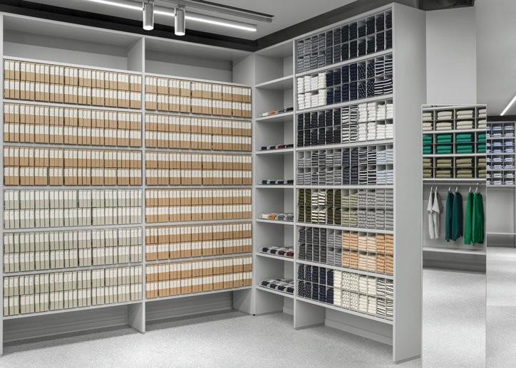 Arket: Sock and underwear packaging area