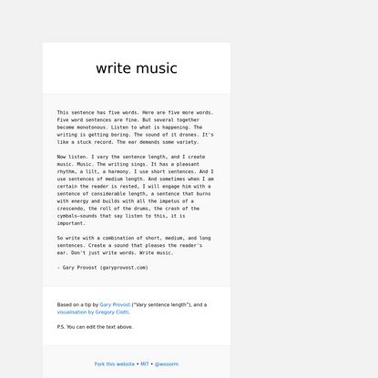 write-music