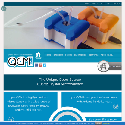Quartz Crystal Microbalance: the first scientific QCM entirely Open Source