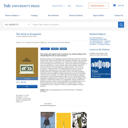 Artist as Economist | Yale University Press