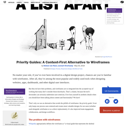 Priority Guides: A Content-First Alternative to Wireframes