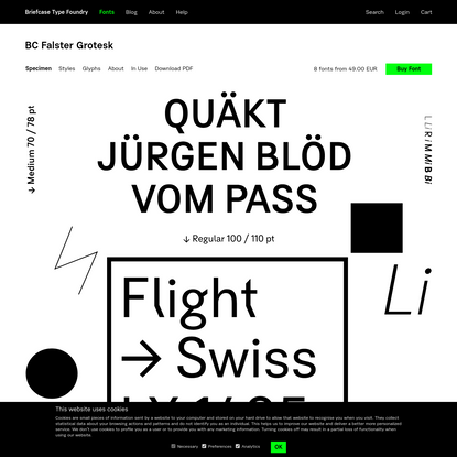 BC Falster Grotesk font family overview | Briefcase Type Foundry