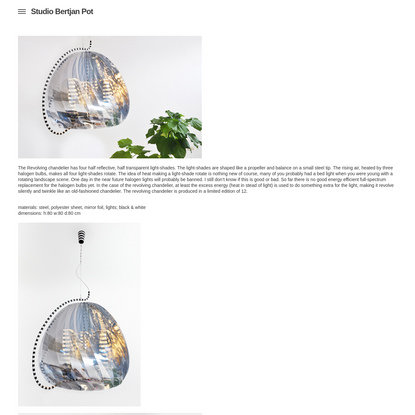 Studio Bertjan Pot › Revolving chandelier   2009