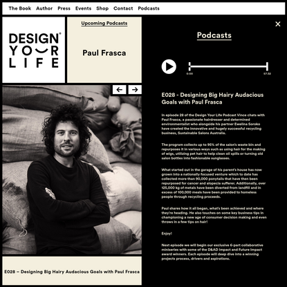 Designing Big Hairy Adacious Goals with Paul Frasca