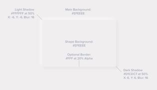 Neumorphism UI card element