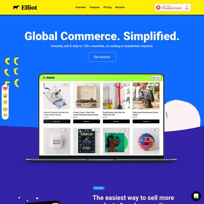 Elliot - Global Commerce Platform - elliot.store