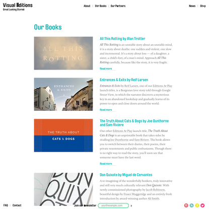 Our Books - Visual Editions