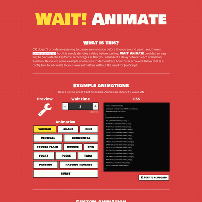 WAIT! Animate