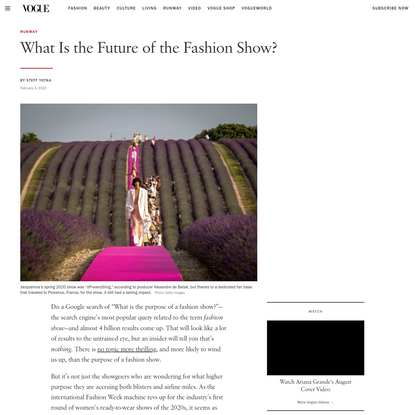 What Is the Future of the Fashion Show?