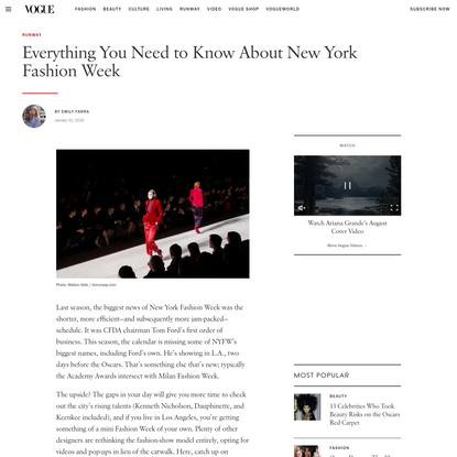 Everything You Need to Know About New York Fashion Week