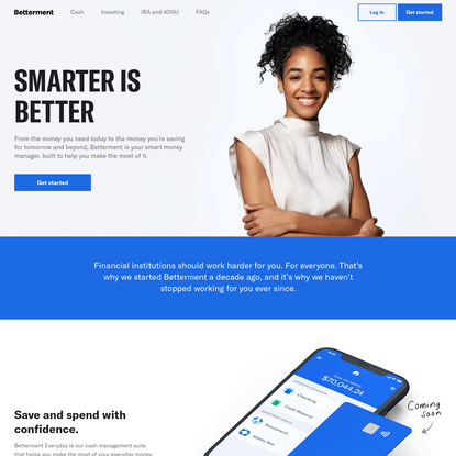 Betterment: The Smart Money Manager | Save. Invest. Retire.