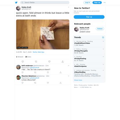 Robby Kraft on Twitter