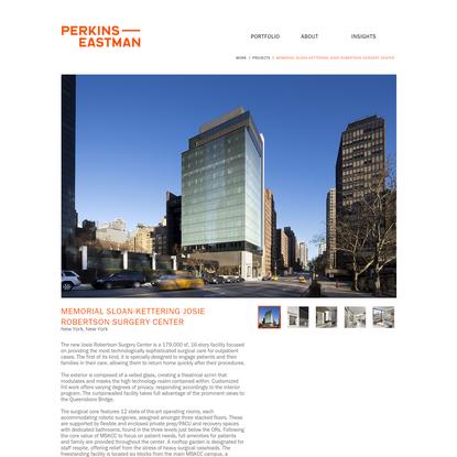 Memorial Sloan-Kettering Josie Robertson Surgery Center / Perkins Eastman