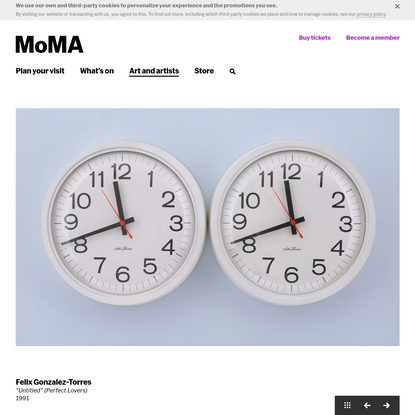 "Felix Gonzalez-Torres. ""Untitled"" (Perfect Lovers). 1991 | MoMA"